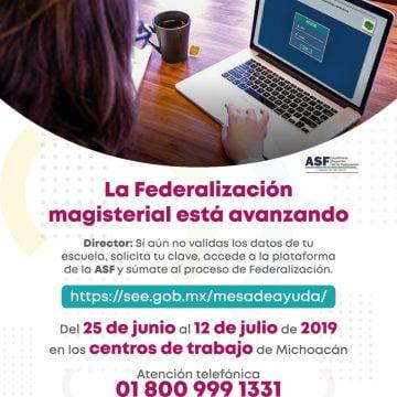 Avanza la federalización  magisterial en Michoacán
