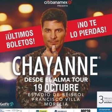 Chayanne listo para llegar a Morelia