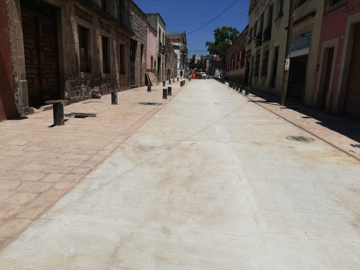 En marcha, cuarta y última etapa de  la obra en Calle Vasco de Quiroga