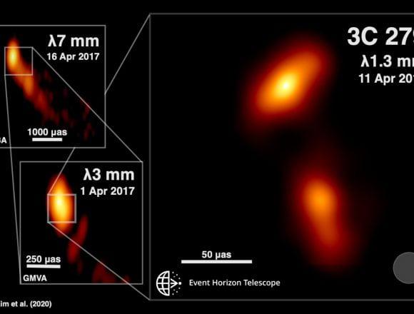 Descubren chorro de gas lanzado   por agujero negro en el espacio