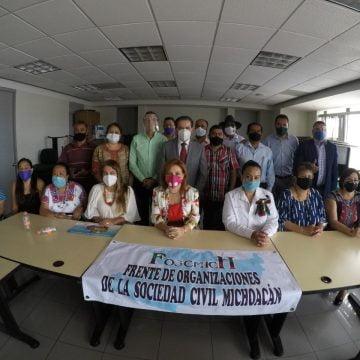 Nace el Frente de Organizaciones de la  Sociedad Civil en Michoacán FOSCMICH