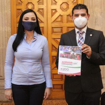 Seguiré trabajando por el desarrollo de un   Michoacán unido: Adriana Hernández