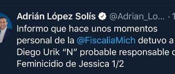 Cayó el presunto asesino de  Jessica González Villaseñor
