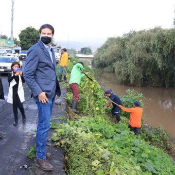 Alfonso Martínez pone en marcha limpieza preventiva en el Río Grande