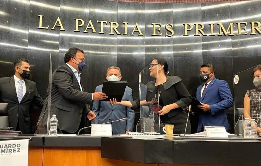 Ante el Senado de la República, alcalde de Pátzcuaro gestionó recursos sin precedentes